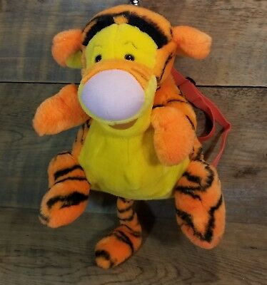 """Tigger Plush Backpack 14"""" Long New Condition Adjustable Straps Zipper Closure"""