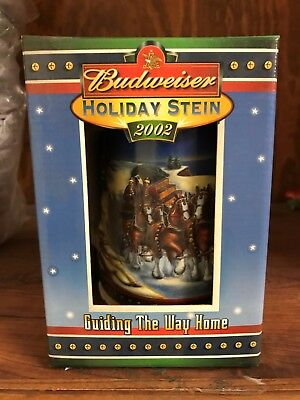 2002 Budweiser Holiday Stein in Box with Certificate of Authenticity