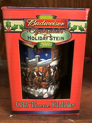 2003 Budweiser Holiday Stein in Box with Certificate of Authenticity