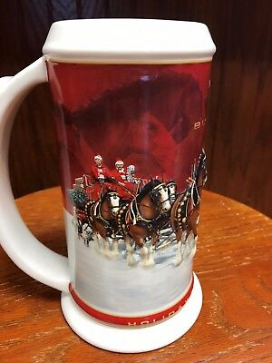 2004 Budweiser Holiday Stein in Box with Certificate of Authenticity