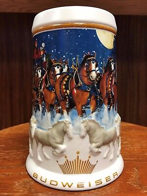 2005 Budweiser Holiday Stein in Box with Certificate of Authenticity