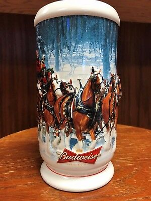 2007 Budweiser Holiday Stein in Box with Certificate of Authenticity