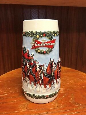 2009 Budweiser Holiday Stein in Box and with Certificate of Authenticity