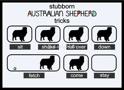 AUSTRALIAN SHEPHERD Stubborn Tricks Funny LARGE FRIDGE MAGNET