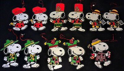 Vintage Snoopy Ornaments 1958 United Feature