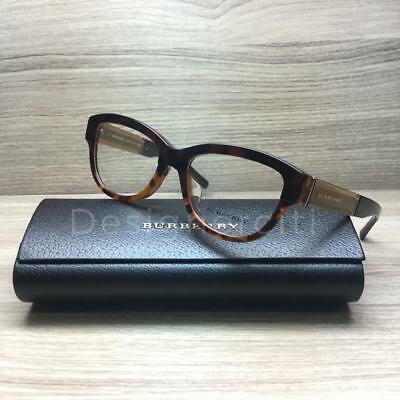 950ae51a5bd Burberry BE 2208-F Eyeglasses Havana Gradient Gold 3559 Authentic 53mm