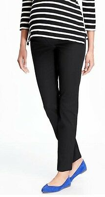 Old Navy BLACK Maternity Side-Panel Pixie Ankle Pants ~ NWOT 4