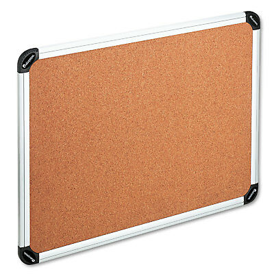 Cork Board with Aluminum Frame, 48 x 36, Natural, Silver Frame