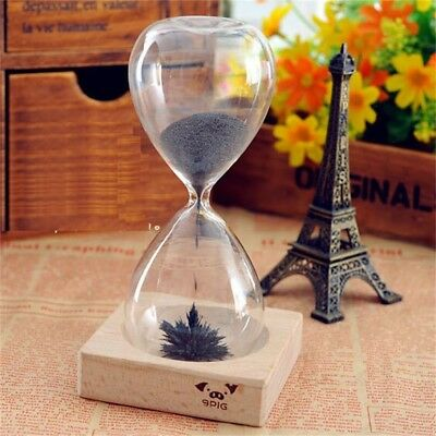 Magnetic Iron Hourglass Sand Timer Clock Glass Creative Gift Decor