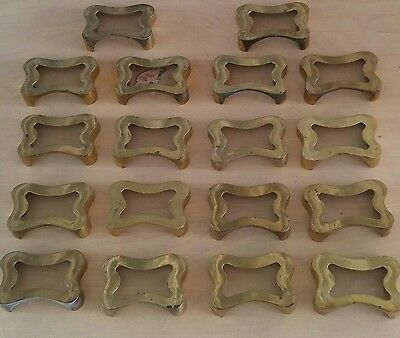 "Antique Brass Apothecary Cabinet Drawer Pulls 2 1/4"" Bore TT-807 Lot of 18"