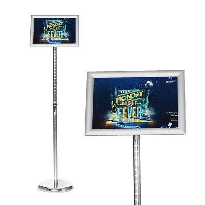 Smont Adjustable Pedestal Sign Holder Floor Stand with Telescoping Post, Poster