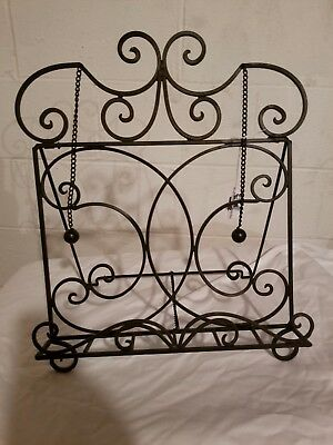 Beautiful Black Scroll Recipe Stand for Recipe and Cookbook in Kitchen