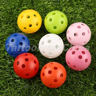 10/20/50 Pcs Airflow Hollow Perforated Plastic Golf Balls Practice Training Ball