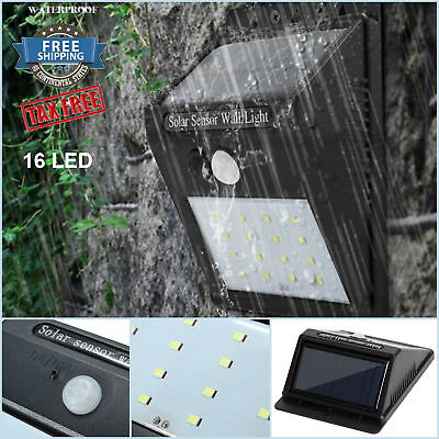 Solar Outdoor Light 16 LED Power Lamp Garden PIR Sensor Motion Waterproof Wall
