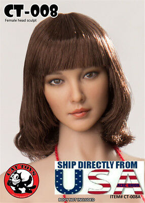 1/6 Scale Female Head Sculpt American CT008A For PHICEN Hot Toys Figure U.S.A.