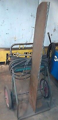 Cutting Torch Welding Cart Industrial Cylinder Cart Hard Tire Great Shape Pa/oh