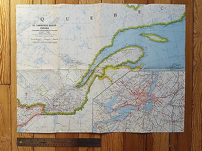 Map of St. Lawrence Region, Ontario, Canadian Geographical Journal 1963 Montreal