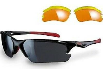 Sunwise Twister Black Sunglasses with interchangeable lenses
