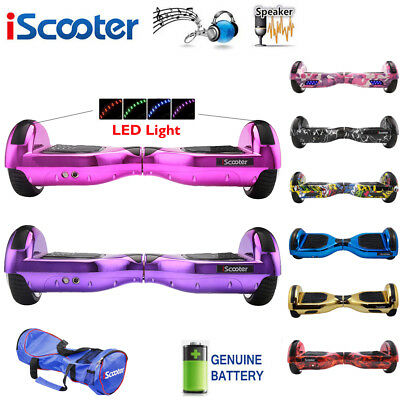 2 WHEEL SELF BALANCING  BALANCE BOARD ELECTRIC BLUETOOTH SCOOTER LED Iscooter