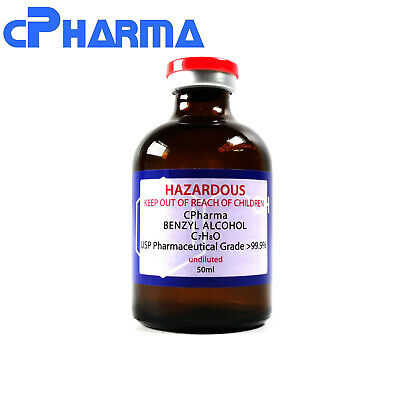 99.9% Pharmaceutical Grade Benzyl Alcohol Usp 50Ml (Undiluted)