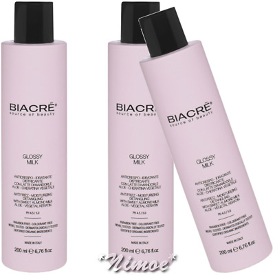 Glossy Milk head.way 3 x 200ml Tecnoform Biacrè ®Moisturising and frizz removing