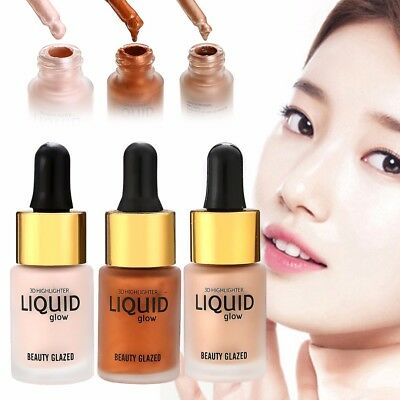 Pro 15ml Face Makeup Liquid Highlighter Creme Aufheller Bronzer Schimmer Beauty