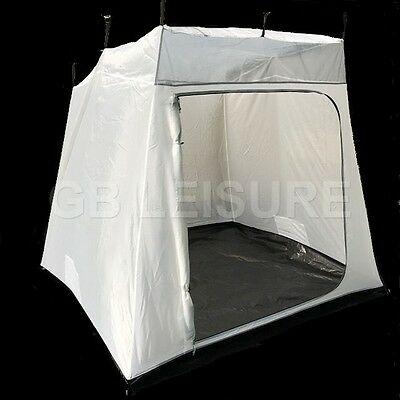 GB Leisure 2 Berth Caravan Awning Inner Tent XL Door Extra Long Hanging Points