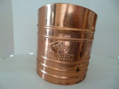 Vintage Large Copper Foley Flower Sifter, Triple Screened, Great Condition