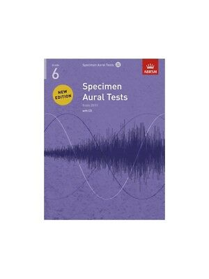 ABRSM Specimen Aural Tests Grade 6 2011 Learn to Play EXAM Lesson MUSIC BOOK &CD