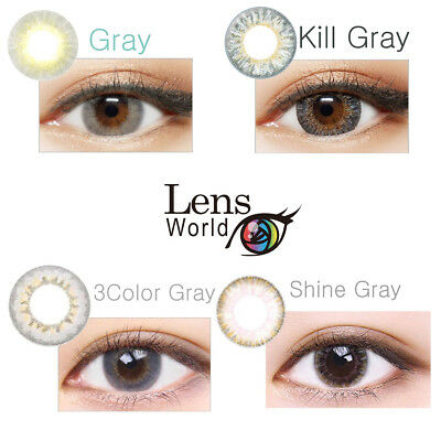 4 Color Gray-Grau Farbige Kontaktlinsen Korean Contact Lenses In Yearly Use