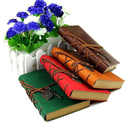 Classic Vintage Notebook Diary Travel Leather Paper Journal Sketchbook Gift