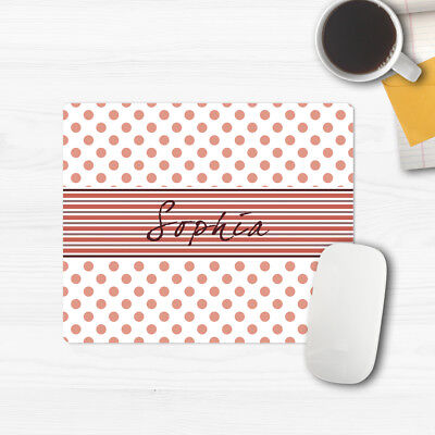 name on mouse pad personalized custom mouse pads polka dot cheap birthday gifts