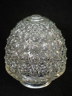 """Vintage Clear Glass Ceiling Light Cover Globe Hobnail Lamp Shade Fixture 6"""" H"""