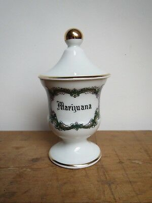 French Limoges Porcelain apothecary pharmacy jars set of 8