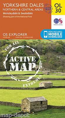 Yorkshire Dales Explorer ACTIVE Map - OL 30 - Northern and Central Area