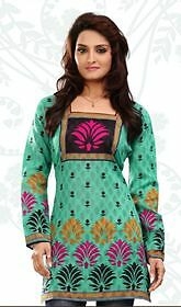 New Indian/pakistani Designer Bhuta Cotton Kurta/kurti