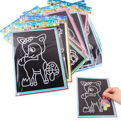 10pcs 9.5*13CM Small Size Kids Scraping Painting Educational Toys For ChildrenSM