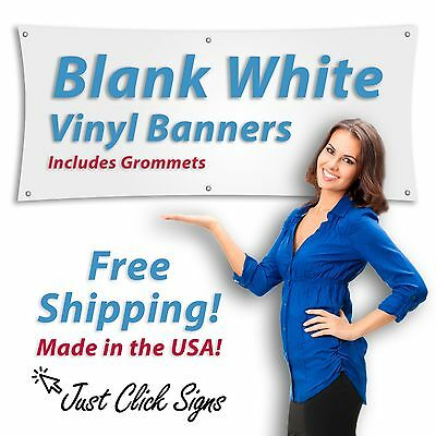 Pack of 2 - 2x4 Blank Vinyl Banner, Heavy 13oz, Shipped Rolled Up FREE SHIPPING