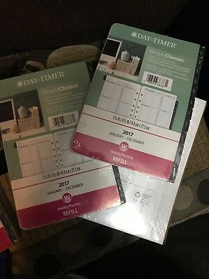 Day-Timer Simply Classic Planner Refill Weekly Monthly Fits 3 & 7 Ring Binders