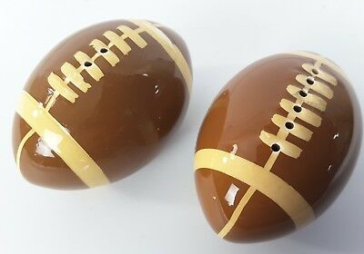 Ceramic Set Football super bowl Party Salt and Pepper Shakers set