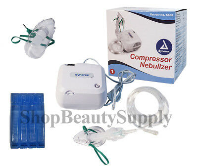 Compact Portable Compressor Nebulizer with 5 Filter plus Disposable Neb Kit