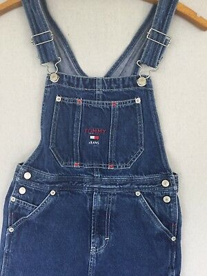 Tommy Hilfiger Vintage Overall Jeans Kids Girl Or Boys Size 7 Tommy Jeans 90s