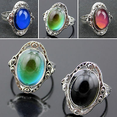5-100Pcs Wholesale Jewelry Lot Stainless steel Change color Emotional Mood rings