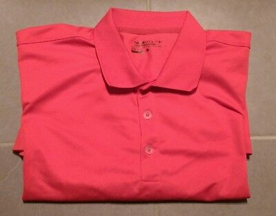 Nike Mens Golf Polo Shirt - Size L - Dri-Fit - Red Polyester - As New Condition
