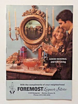Vintage 1975 Catalog FOREMOST LIQUOR STORE Chicago COCKTAIL RECIPES Drinks