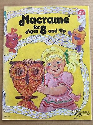 VINTAGE 1976 Macrame For Ages 8 And Up KIDS MACRAME PATTERN BOOK