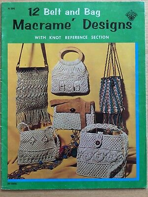 VINTAGE 1971 12 Belt & Bag Macrame Designs MACRAME PATTERN BOOK