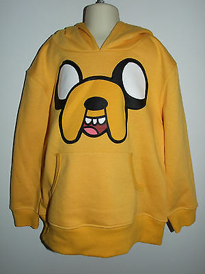Adventure Time Yellow Hooded Long Sleeve Jake Jumper Kanga Pocket Size 8