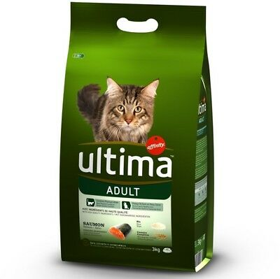 Ultima Adult Salmon, Rice - Dry Cat Food For Healthy Skin Economy Pack: 2 x 3kg