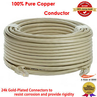100ft RJ45 Cat5e CAT5 Ethernet LAN Network Cable For PC PS XBox Internet Router